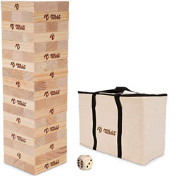 Rally And Roar Towering Timbers Giant Tumbling Timbers Game 2.5 Feet Tall Build