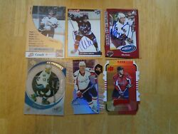 Mike Green 6 Card Lot Washington Capitals Autographs--rookie--inserts--pre-rc