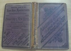 Rare 1881 And039industrial Gazetteerand039 Hand-book Atchison Topeka And Santa Fe Railroad