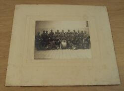 Rare Ca 1917 Wwi 'cabinet Card' Photo German Military Band Music/instruments