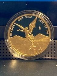 2019 1/4oz Gold Proof Libertad .999 Only 800 Minted