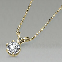 8,200 Yellow Gold Solitaire Diamond Pendant Necklace 1.50 Ct 14k I2 51343278