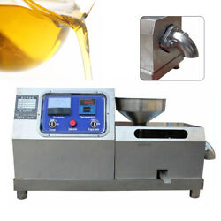 Commercial Electric Oil Press Machine Automatic Screw Sesame Oil Expeller 3000w