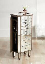Vicenta 40 1/2 High 7-drawer Mirrored Jewelry Armoire