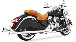 Freedom True Dual Headers Exhaust W/ Sharktail Tip Chrome Indian Vintage Classic