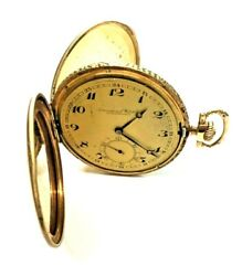 IWC 14K Solid Yellow Gold Full Hunter Case Pocket Watch serial number #797488