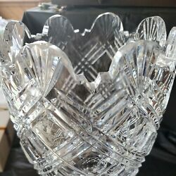Waterford Crystal 13 Master Cutter Vase Vintage With Mark On Bottom