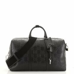 Convertible Duffle Bag Gg Embossed Perforated Leather Large