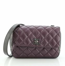 Lady Pearly Flap Bag Quilted Calfskin Mini