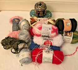 Huge Mixed Yarn Lot Vintage And Modern  Read Description For Full List Yarns