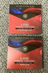 2020 American Innovation 1 Reverse Proof Coin South Carolina And Maryland