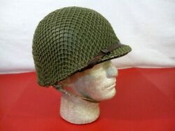 Wwii Us Army M1 Helmet Steel Pot Fixed Bale Front Seam W/westhouse Liner - Nice