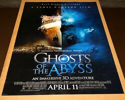 2003 Ghosts Of The Abyss Titanic Imax Movie Poster 27 X 40 Rare James Cameron