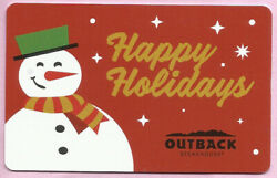 Outback Steakhouse No Value Collectible Gift Card - Happy Holidays