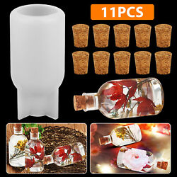 Night Light Silicone Resin Bottle Cup Mold DIY Making Epoxy Casting Mould Craft