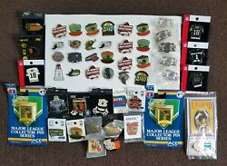 Old Stock Lot Of 50 Sports Lapel Hat Pins Nba Mlb Nfl Wholesale