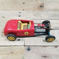 1932 Ford Model A 7 Hot Rod Tin Toy By Bandai Made In Japan Antique Vintage '32