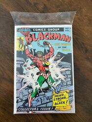 Blackman 1 Leader Comics Group 1981 Soul Wonder Of The World Very Rare Ghost