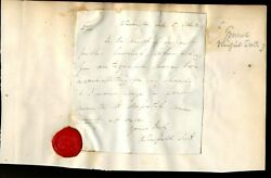 Civil War General Winfield Scott Head Of Us Army Ans Dated 1842 Sealed