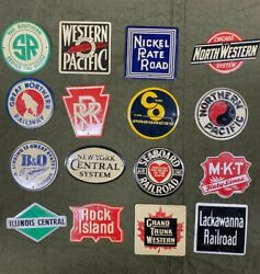 Vintage Tin Railroad Signs Post Cereal Lot Of 16