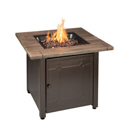Fire Pit Table Propane Gas Outdoor Patio Heater Fireplace Backyard Furniture