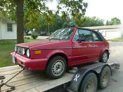 Parting Out 1987 Vw Volkswagen Mk1 Rabbit Convertible Cabriolet Red - 1 Lug Nut