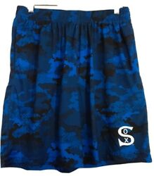 Mlb Chicago White Sox Mens Blue Camo Size M Jersey Mesh Lined Swim Trunks