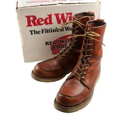 Red Wing 877 Irish Setter Work Boots Brown Dog Tag Menand039s Size 9h 80s Vintage