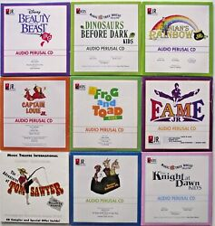 Audio Perusal Cd Set Of 9 Fame Beauty And The Beast Frog And Toad Tom Sawyer