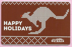 Outback Steakhouse No Value Collectible Gift Card - Happy Holidays Kangaroo