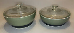 Pfaltzgraff Sphere Set Of 2 Covered Bakers New Casserole Pans