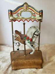 Willitts Designs Tobin Fraley Collection Melodies Horse Carousel Waltz Music Box