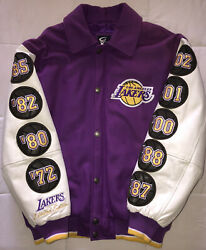 Lot Of Limited Edition Lakers Letterman Varsity Jacket Championship + Hoodie