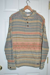 Nwt Faherty Brand Menand039s Pacific Hooded Poncho Pullover Neskowin Xl 188