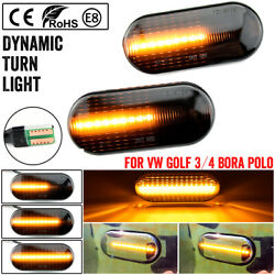 1pair Led Side Marker Signal Light Indicator Repeaters Dynamic Flowing For Vw T5