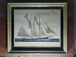 Currier And Ives, The Yatch Countess Of Dufferin, Original Framed