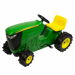 John Deere Pedal Powered Tractor, Kids Ride-on Toy Tractor Adjustable Seat Green