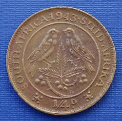 South Africa 1/4 Penny Coin1943 King George Vibronze 2.8gkm23avf342