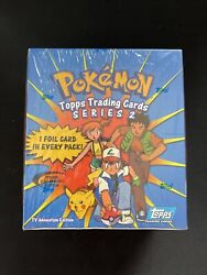 Special Collectors Edition Topps Pokemon Series 2 Trading Card Set Of 36 Packs