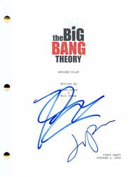 Jim Parsons And Johnny Galecki Signed Autograph The Big Bang Theory Pilot Script
