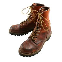 Red Wing Irish Setter Boots Dog Tag Leather Brown Menand039s Size 6 1993 Vintage Used