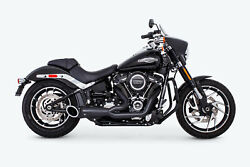 Freedom Performance Turnout 21 Exhaust Black For 18-21 Harley Davidson Softail