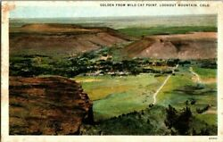 Vintage Golden From Wild Cat Point Lookout Mountain Colorado Postcard