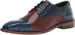 Menand039s Stacy Adams Blue/brown Talarico Cap-toe Oxford 25321 469