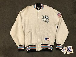 New Vintage Florida Marlins Button Jacket By Felco Varsity M/l Miami Top Of Line
