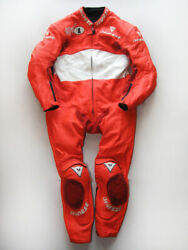 Vintage Dainese Max Biaggi Replica Motorcycle Leather Suit Size 52 Rare