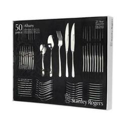 Stanley Rogers 50 Piece Stainless Steel Albany Cutlery Set 50pc