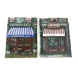 Mark St John 3d French Cafe Vogue And Lecluse Coffee Shop Wall Plaques Lot Of 2