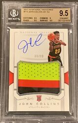 2017 National Treasures John Collins Rookie Rc Patch Auto /99 119 Bgs 9.5