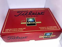 Titleist Dt Spin 4 Sleeves 12 Balls Solid Center Cut Proof Cover 392 Dimple